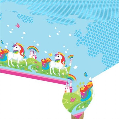 Unicorn Rainbow Birthday Party Plastic Tablecover - 1.8m x 1.2m